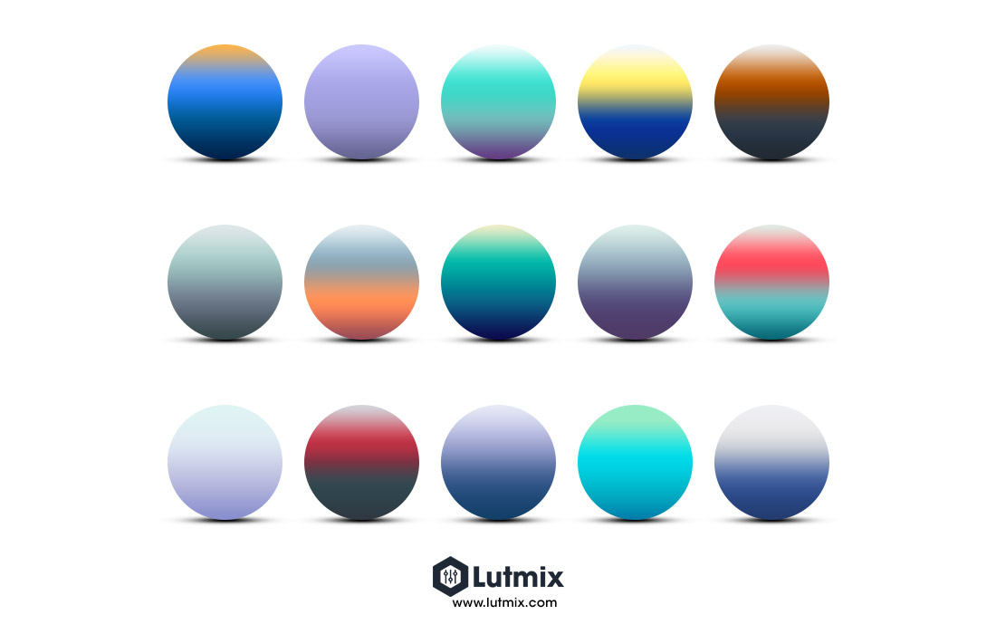 Winter gradients. Lutmix presets. Free gradient pack for Photoshop